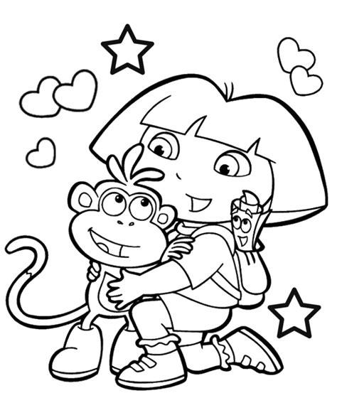 dora spring coloring pages dora boots coloring page to print or download for free