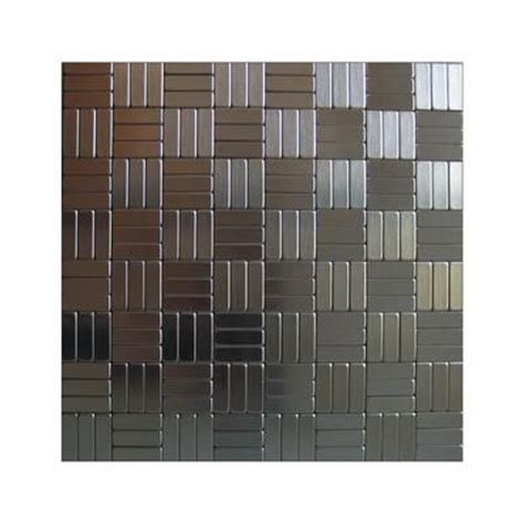 Home Depot Backsplash For Kitchen Inoxia Speedtiles Loft Mosaic Self Adhesive Metal Tiles