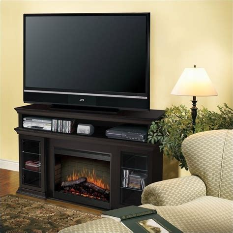 symphony media tv stand with electric fireplace in