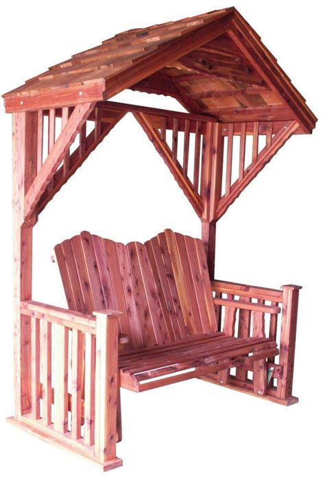 covered patio swing glider cedar covered garden swing bench seat wood outdoor glider