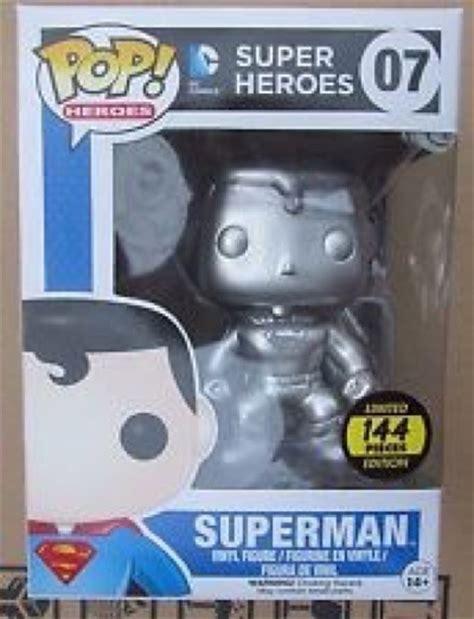 Funko Dc Comics Universe Superman toys the top 12 most expensive funko pop vinyl figures metallic blue batman sdcc exclusive