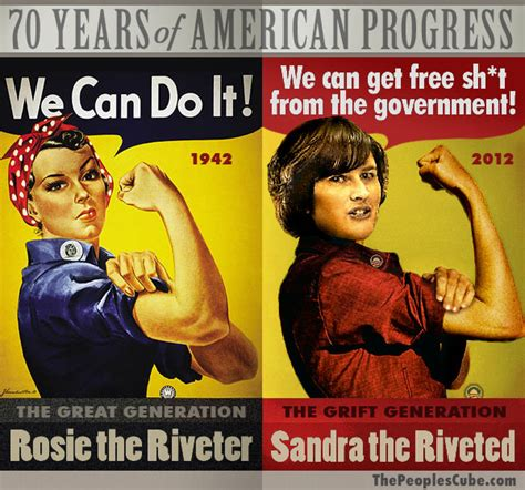 Rosie The Riveter Meme - sandra the riveted of the grift generation