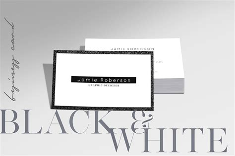 White Business Card Template Psd by Free Black And White Business Card Psd Template