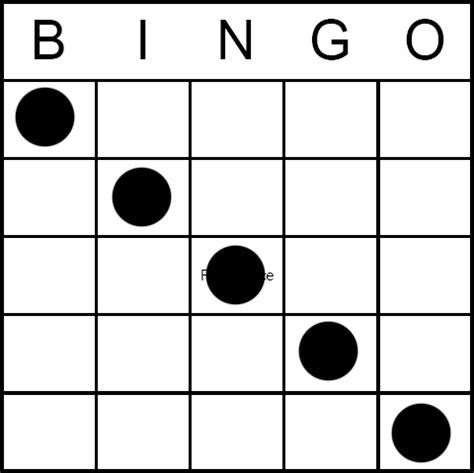 bingo game pattern any diagonal