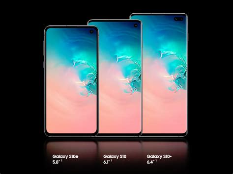 samsung galaxy s10 galaxy s10 plus galaxy s10e with punch displays revealed technology