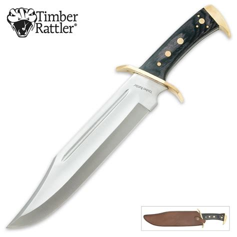 bowie knife timber rattler western outlaw bowie knife