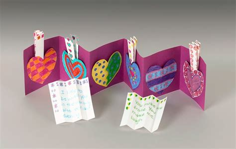 Paper Hearts Crafts - paper message pockets craft crayola