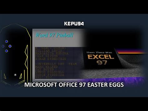 microsoft easter eggs microsoft office 97 easter eggs word excel