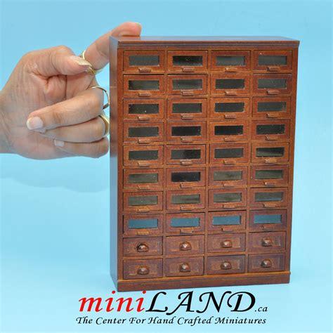 store haberdasher  drawer unit art deco dollhouse