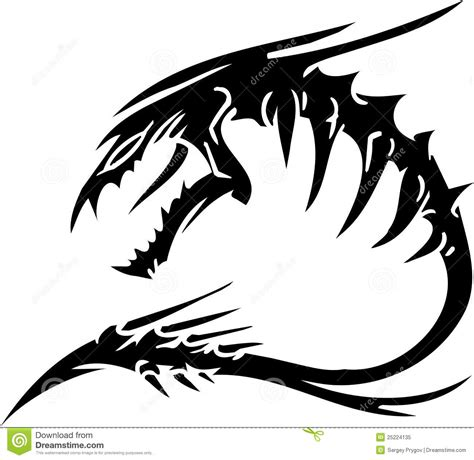 sea monster vector illustration vinyl ready stock