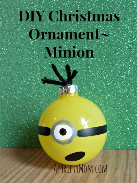 diy christmas ornament minion made with nail polish
