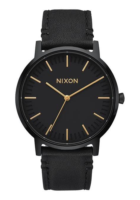 Jam Nixon Patriot Leather Black Original 100 porter for nixon watches and premium accessories