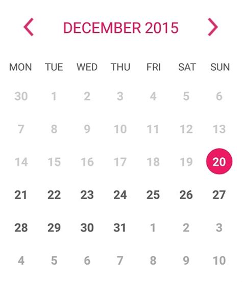 Calendar View Android Calendarview Change The Style Of Android Calendar View