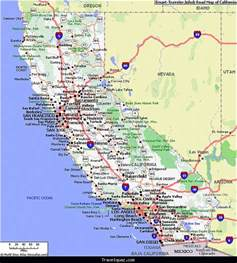 map of california and its cities map of california travel map travelquaz