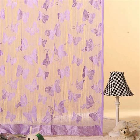 butterfly door curtain butterfly pattern tassel string door curtain window room