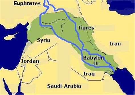 world map rivers tigris continued from africa in the bible