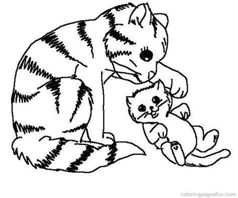 Cat And Kitten Coloring Pages puppies and kittens coloring pages az coloring pages