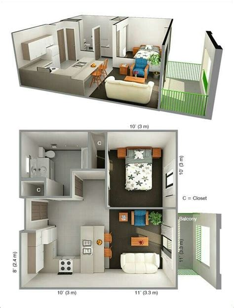 small one bedroom apartment 17 best images about planos casa home plans on pinterest