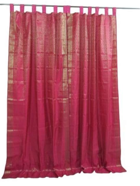 deep pink curtains 1000 images about brocade sari curtains on pinterest