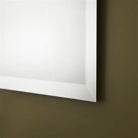 unframed bathroom mirrors decoraport unframed bathroom vanity wall silvered mirror
