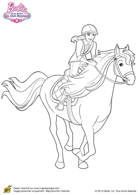 barbie stacie coloring pages coloriage stacie au trop avec son cheval sur hugolescargot