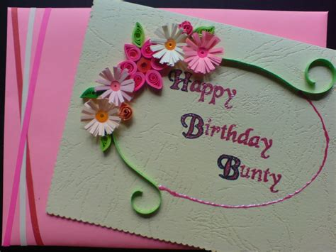 Birthday Handmade Card - handmade birthday greeting cards for
