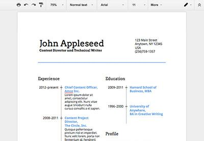 How To Make A Resume On Docs by How To Make A Professional Resume In Docs