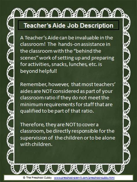 preschool description resource templates