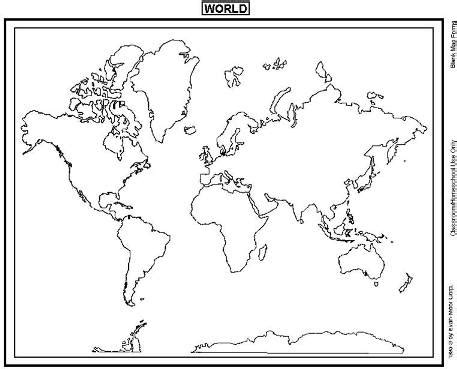 Printable Blank World Maps For Students