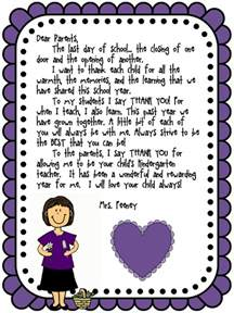Thank You Letter To Parents Graduation What To Say In Your End Of Year Letter To Parents