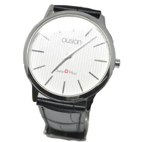 Ousion Quartz Leather Bfashion Ol327g White ousion quartz leather band fashion ol327g