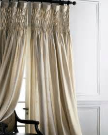 smocked curtains drapes smocked linen curtain traditional curtains by horchow