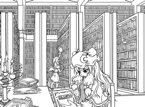 Bookcase Wallpaper Patchouli S Library By Stevew On Deviantart