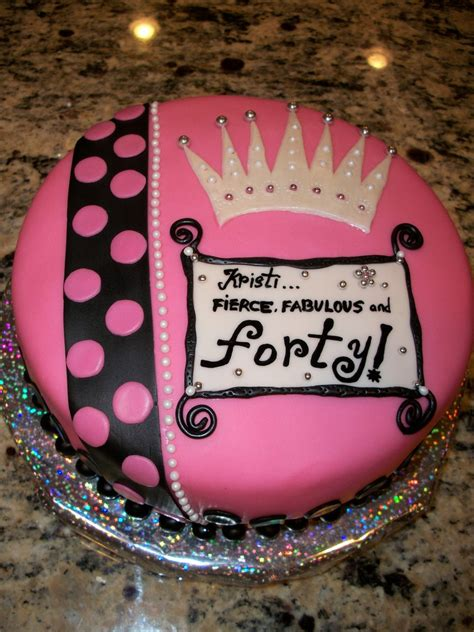 Fierce Fabulous And Forty Decorations by Fierce Fabulous Forty Cakecentral