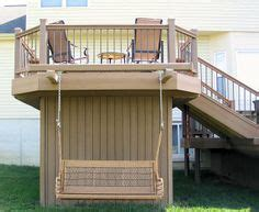 deck swing 1000 images about decks on privacy screens