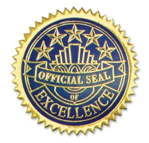 certificate seal template certificate seals excellence blue gold ct6001bg