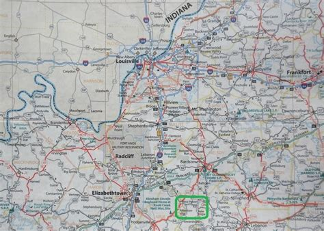 kentucky map highways kinexxions locating the ancestral lands in kentucky