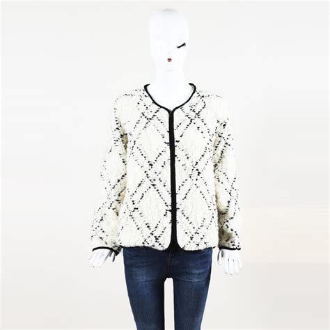 ulla johnson quilted wool blend jacket  cream white lyst