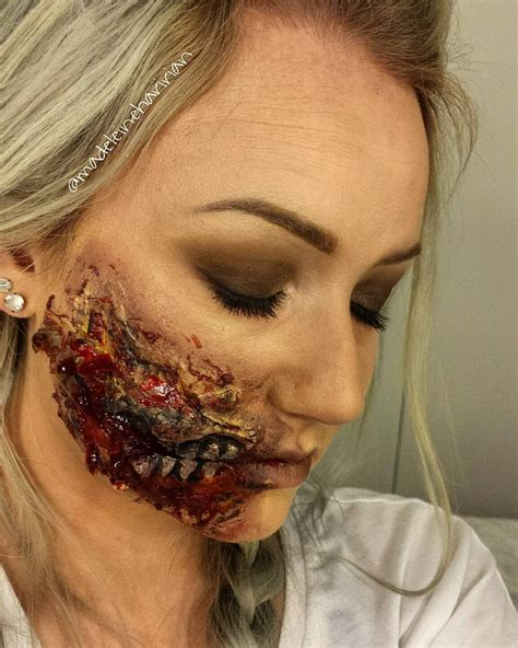 tutorial latex halloween zombie mouth liquid latex halloween tutorial youtube