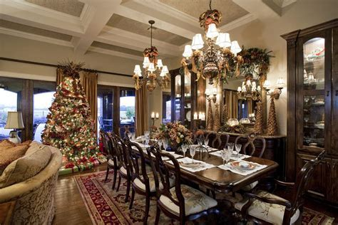 spanish buffet dining room victorian with holiday