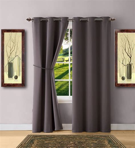 Charcoal Gray Curtains Designs Warm Home Designs Charcoal Blackout Curtains Valance Scarf Tie Backs Warmhomedesigns