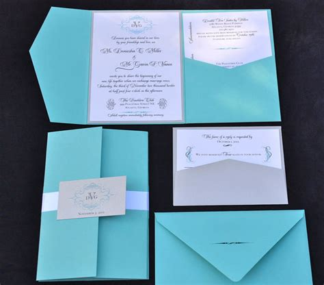 teal wedding invitations creative make something mondays