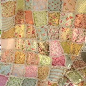 rag quilt large lap size throw from peppersattic on etsy in