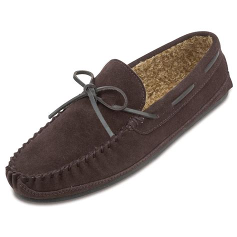 moccasin slippers mens s minnetonka moccasin 174 pile lined casey slippers