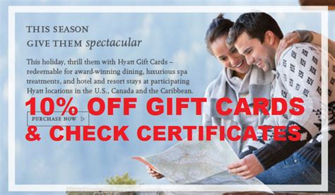 Hyatt Gift Card Discount - hyatt gift card physical digital check certificates at 10 discount until