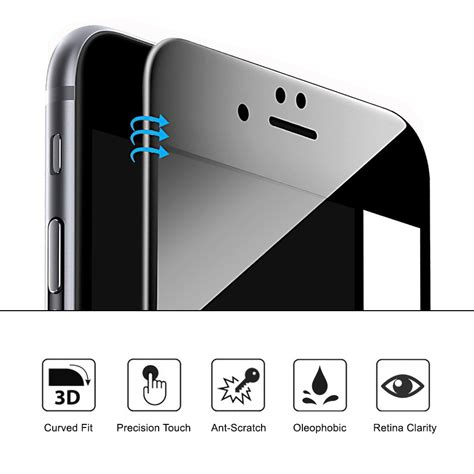 Tempered Glass 3d Curve Iphone 7 Plus 3d tempered glass screen protector apple iphone 8 plus black