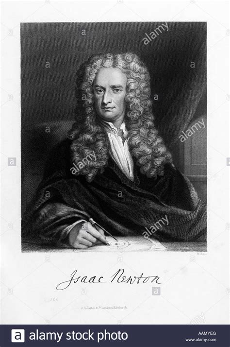 biography isaac newton in english drawing portrait sir isaac newton english mathematician