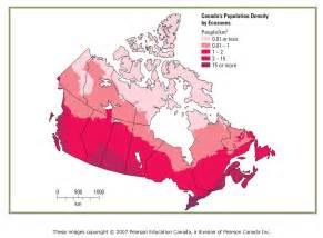 population density map canada types of maps gcg1d1 geography of canada
