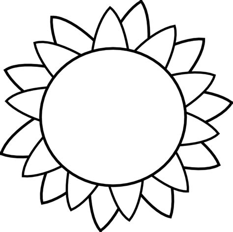 Sunflower Outline Png by Flower Clip At Clker Vector Clip Royalty Free Domain