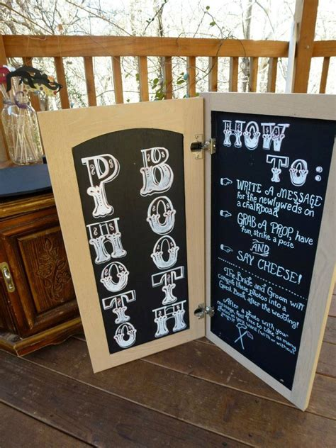 diy chalkboard photo booth fold open photo booth chalkboard for diy wedding